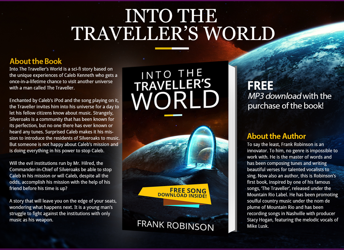 Into The Travellers World - Landing Page